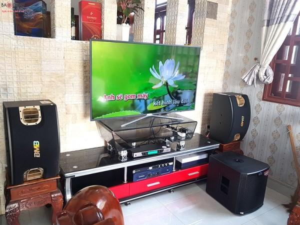 Lắp đặt dàn karaoke BMB cho gia đình anh Dũng ở Long An