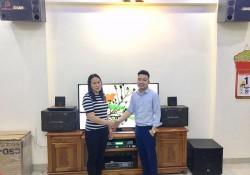 Lắp đặt dàn karaoke BMB của gia đình chị Hiền ở Hải Phòng (BMB 2000C, JBL KX180, SAE PKM 6.5, BCE UGX12)