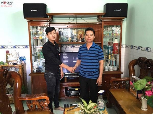 Lắp đặt dàn karaoke Paramax cho gia đình anh Hà ở Biên Hoà