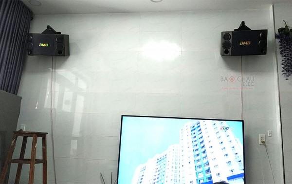 Bộ dàn karaoke BMB của gia đình chú Đạt ở Quận 6, HCM ( BMB 880C, DSP 9000, SAE CT6000)