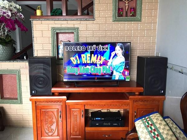 Bộ dàn karaoke JBL của gia đình anh Nhật ở Đồng Nai