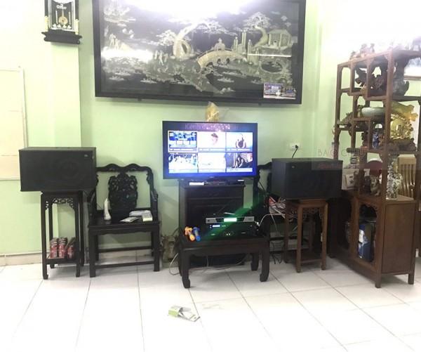 Bộ dàn karaoke JBL của gia đình anh Tú ở Đông Anh, Hà Nội ( JBL Mk12, SAE CT6000, BCE UGX12 , FX 9MK)