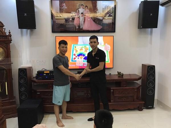 Bộ dàn karaoke JBL của gia đình chị Thu ở Kiến Hưng.