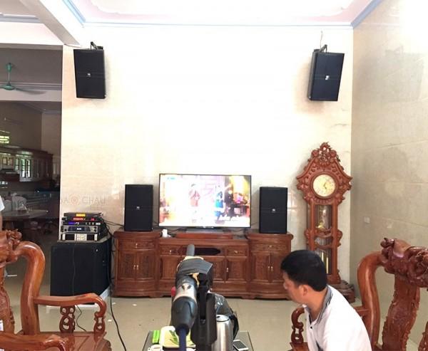 Bộ dàn karaoke JBL VIP trị giá hơn 100 triệu của gia đình anh Thành ở Tuyên Quang ( KP 4012, KX 180, Famous 7406, UGX12 Plus)