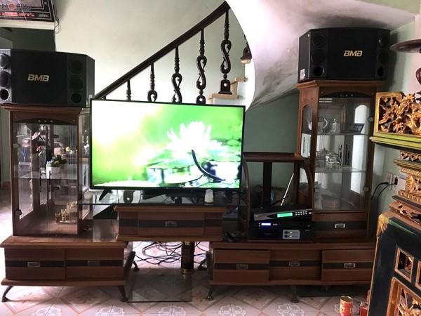 Dàn karaoke BMB của gia đình anh Tiến ở Thanh Trì, Hà Nội ( BMB 2000C, FX 9MK, SAE PKM 8.5, BCE U900 Plus )