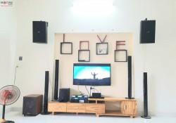 Dàn karaoke Domus của gia đình anh Hiếu ở Quảng Nam ( DP 6120, Arirang ASIII, Famous 3206, BF K6, BCE UGX12)