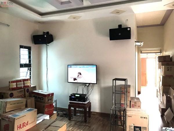 Dàn karaoke JBL của gia đình anh Tân ở Mê Linh, Hà Nội ( KP 4010, BCE UGX12 , FX 9MK, SAE CT6000)