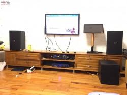 Dàn karaoke JBL của gia đình chị Hạnh ở Từ Liêm, Hà Nội ( KP 4012, R120SW, KX 180, Crown T5, EU900MH )