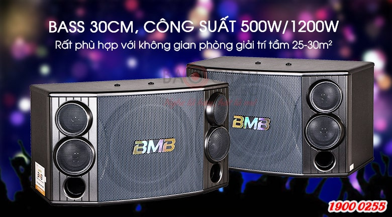 Loa BMB CSD 2000C Like New có loa bass 30cm, công suất 500W/1200W