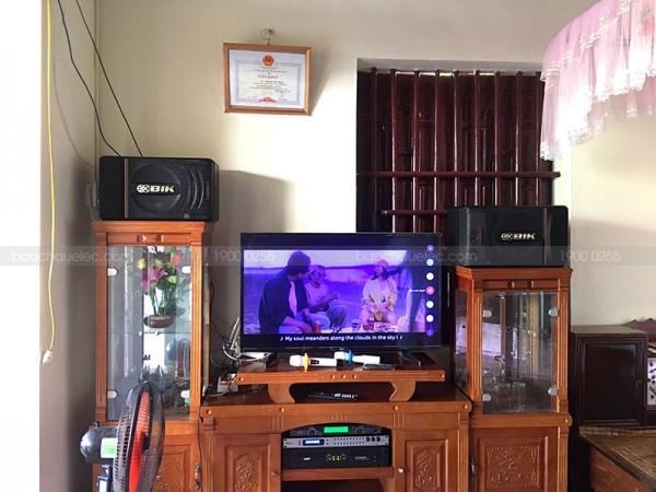 Bộ dàn karaoke BIK của gia đình chị Trang ở Hoằng Hoá, Thanh Hoá (BIK 886II, SAE CT3000, DSP9000, U900 Plus X)