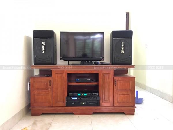Bộ dàn karaoke BIK của gia đình chú Hùng ở Thanh Hoá ( BIK BJ S886 , SAE Ct3000, FX 9MK, Hanet 1TB)