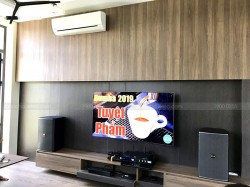 Bộ dàn karaoke của gia đình anh Thanh ở Quảng Xương, Thanh Hoá ( BMB 8012, BCE 8200, JBL kx 180, EU900MH)