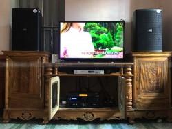 Bộ dàn karaoke của gia đình anh Ánh ở Tứ Kỳ, Hải Dương ( Domus 6120, SAE Ct6000, vang FX-9MK, UGX12 Plus)