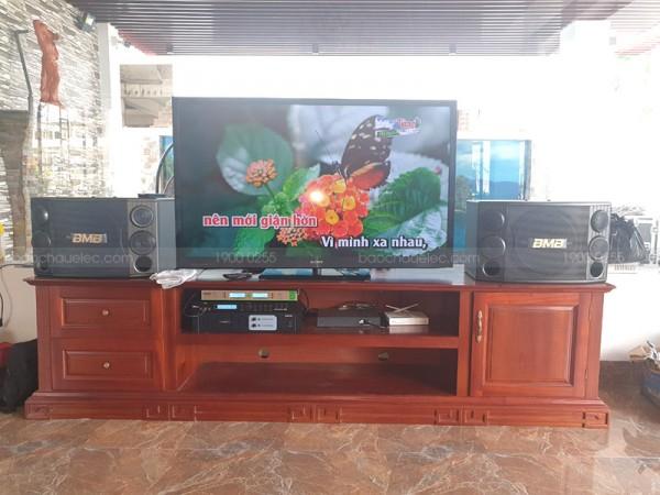 Bộ dàn karaoke của gia đình anh Linh ở FLC Thanh Hoá ( BMB 2000C, X5 Plus, Famousound 3206)