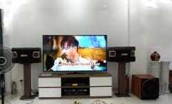 Bộ dàn karaoke của gia đình anh Long ở Đền Lừ, Hà Nội ( BMB 900C, SAE CT6000, KX 180, sub 2000, UGX12)