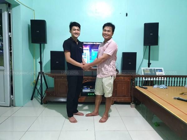 Dàn karaoke của gia đình anh Hà ở Đông Sơn, Thanh Hoá (Domus 6100, JBL KX 180,  TX650Q)