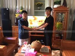 Bộ dàn karaoke Domus của gia đình chú Hà ở Long Bình Tân ( Domus 6100, UGX12 Plus, TX 650Q, JBL KX18