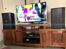Bộ dàn karaoke LDH của gia đình anh Khánh ở Hóc Môn (Loa LDH, đẩy LDH 800, Vang X5 plus, mic U900 PlusX)