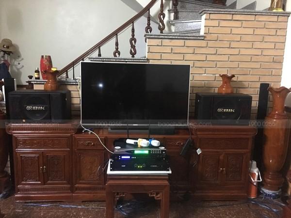 Dàn karaoke BIK của gia đình anh Nhuần ở Sao Đỏ, Hải Dương ( BIK S886 II, SAE Ct3000, FX 9MK, U900 Plus New)