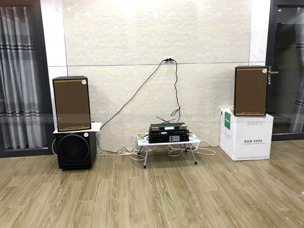 Dàn karaoke gia đình anh Hoà ở Long Thành, Đồng Nai (Martin KTWO 12, Sub Paramax 2000, BCE 9200, Famos 3206, UGX12)
