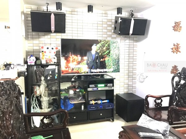 Dàn karaoke JBL trị giá hơn 30 triệu của gia đình anh Thông ở Đà Nẵng (JBL Ki 510, R120SW, Crown T3, BKsound 9000, BCE UGX12)