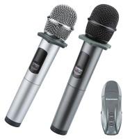 Micro Karaoke không dây hát trên ô tô Excelvan K18U, 02 mic, UHF