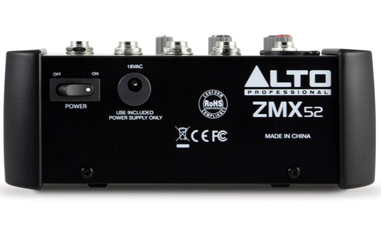 Mixer mini Alto ZMX52 (5 kênh)