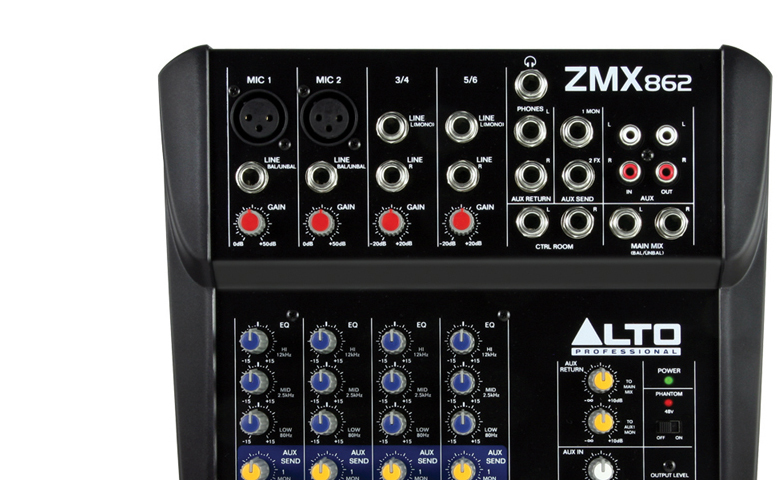Bàn mixer mini Alto ZMX862