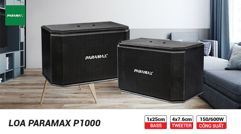 Loa karaoke Paramax P1000 tính tăng