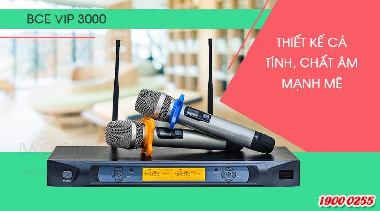 Micro không dây BCE VIP3000 lọc âm, chống hú tốt