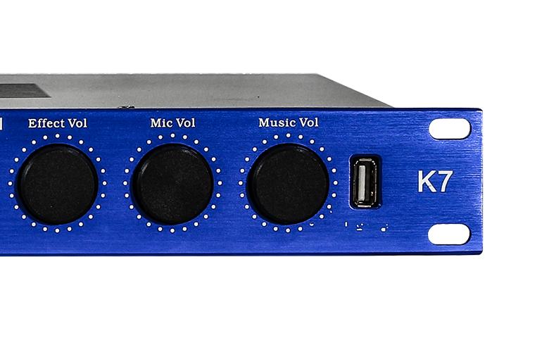 Vang số karaoke BF Audio K7 mặt trước 3