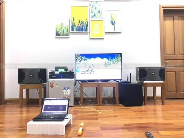 Bộ dàn karaoke JBL của gia đình anh Khang ở Cẩm Lệ, Đà Nẵng ( JBL ki310, R120SW, X5 Plus, Crown T5, BCE UGX12, Hanet 2TB)