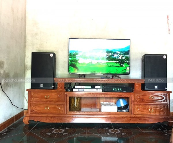 Dàn karaoke Alto của gia đình anh Minh ở Hoằng Hoá, Thanh Hoá ( Alto AT2000, TX 650Q, DSP 9000, BCE UGX12)