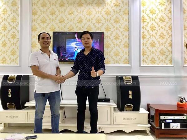 Dàn karaoke BMB cho gia đình anh Trung ở Hải An, Hải Phòng ( BMB 900C, Famousound 7208, X5 Plus)