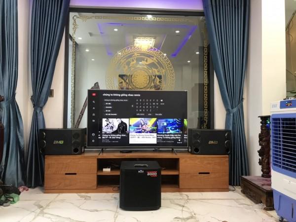 Dàn karaoke BMB của gia đình anh Cường ở Lê Văn hiến, Đà Nẵng ( BMB 2000SE, Sub Alto 312S, BCE 9200+, X5 Plus)