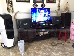 Dàn karaoke BMB của gia đình chú Quang ở Trảng Dài, Biên Hoà ( BMB 2000SE, Famous 3206, X5 Plus, UGX12)