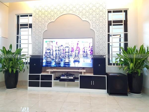 Dàn karaoke JBL cao cấp của gia đình chú Thanh ở Bà Rịa, Vũng Tàu ( JBL KP4010, Klipsch R115SW, JBL KX180, BCE 8200, Plus 4TB, Shure SVX288AZ/PG58)
