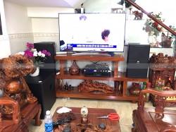 Dàn karaoke JBL trị giá hơn 60 triệu cho gia đình anh Bình ở Bình Dương ( JBL KP 4010, BCE 8200, JBL KX180, Sub 15W, EU900MH Black)