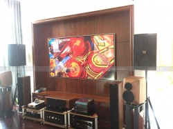 Lắp đặt dàn karaoke BMB cao cấp cho gia đình anh Phúc ở The Manor Mễ Trì ( BMB 2012C, JBL KX180, Crown Xli 2500, VIP 3000, Plus 4TB)