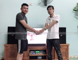Lắp đặt dàn karaoke BMB cho gia đình chị Nhung ở An Dương, Hải Phòng ( BMB 3000C, Famous 3206, DSP9000, U900 PlusX)