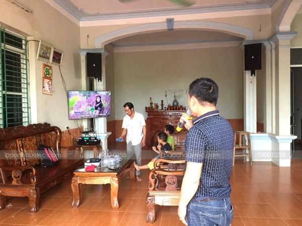 Lắp đặt dàn karaoke cho gia đình anh Việt ở Tam Dương, Vĩnh Phúc ( 12C Black, BCE 6200, BL KX180, UGX12 Luxury)