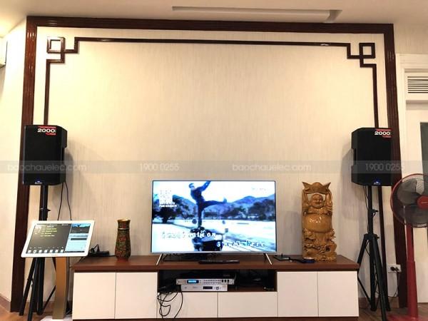 Lắp đặt dàn karaoke cho gia đình chị Mai Anh ở Hoàng Đạo Thuý ( Alto TS310, DSP 9000, 22 inch, Plus 4TB)