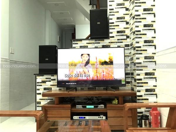 Lắp đặt dàn karaoke hay cho gia đình Cô Xuân ở Gò Vấp ( Domus 6100, SAE CT6000, Bksound 9000, BCE UGX12)