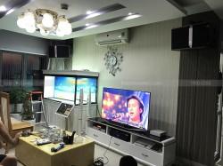 Lắp đặt dàn karaoke JBL cao cấp cho gia đình anh Hoàn ở Mỗ Lao, Hà Đông ( ki 512, XLi 2500, JBL KX180, UGX12 Luxury, Plus 4TB, 22 inch)
