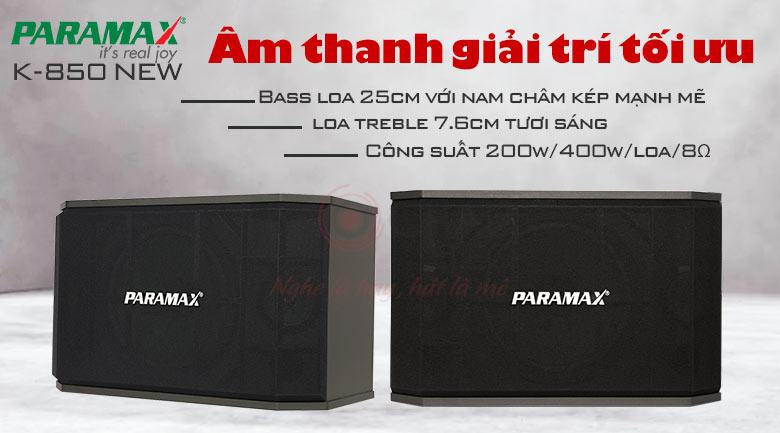 Loa paramax K850 new chính hãng trong dàn karaoke gia đình BC-T62GD