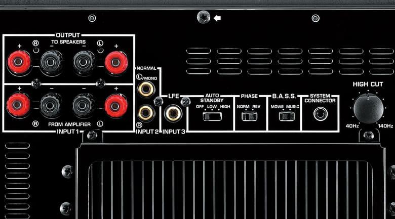 Loa sub yamaha NS-SW300 (Black - Piano) các phism chỉnh