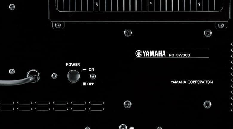 Loa sub yamaha NS-SW300 (rosewood) mặt sau 2