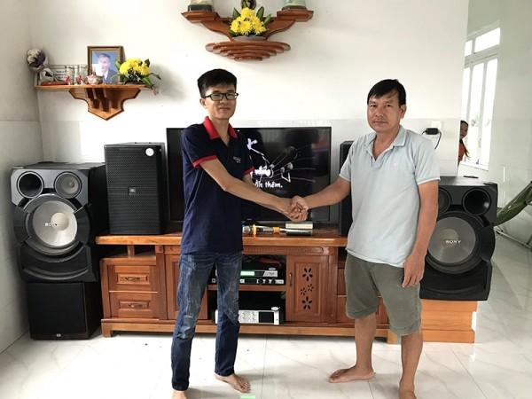 Dàn karaoke JBL cho gia đình anh Ân ở Trảng Bom, Đồng Nai (JBL 4012, A120PWAS, Famous 7406, JBL KX180, BCE UGX12)