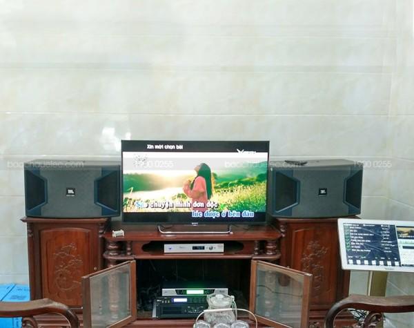 Dàn karaoke JBL gia đình anh Ngát ở Hoà Bình (JBL Ki312, BCE 8200, X5 PLus, UGX12, Plus 4TB, 22 inch)