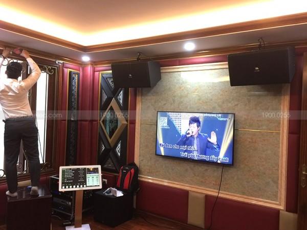 Lắp đặt cho gia đình anh Khanh ở Mỹ Đình bộ dàn karaoke JBL VIP ( JBL 4012, Sub JBL A120P, JBL X6, JBL KX180, UGX12 Plus Luxury, HD Plus 4TB, 22 inch)